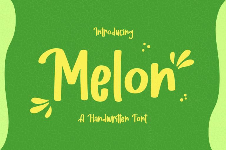 Melon - Fancy Handwritten Font