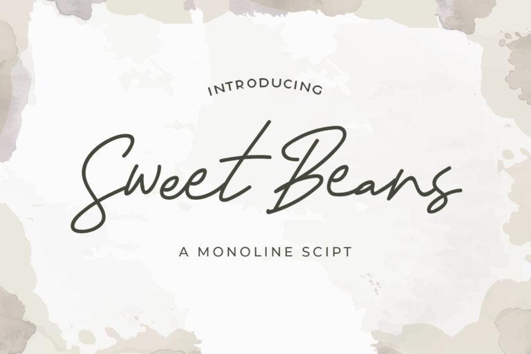 Sweet Beans - Monoline Script Font