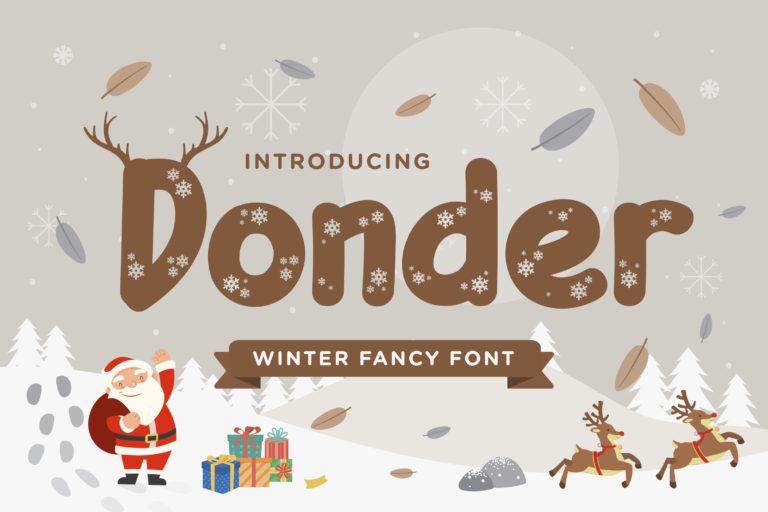 Donder - Winter Fancy Font