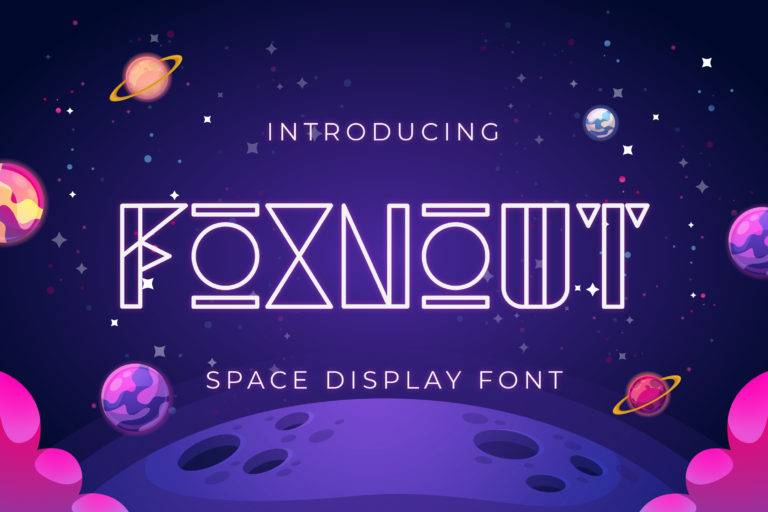 Foxnout - Space Display Font
