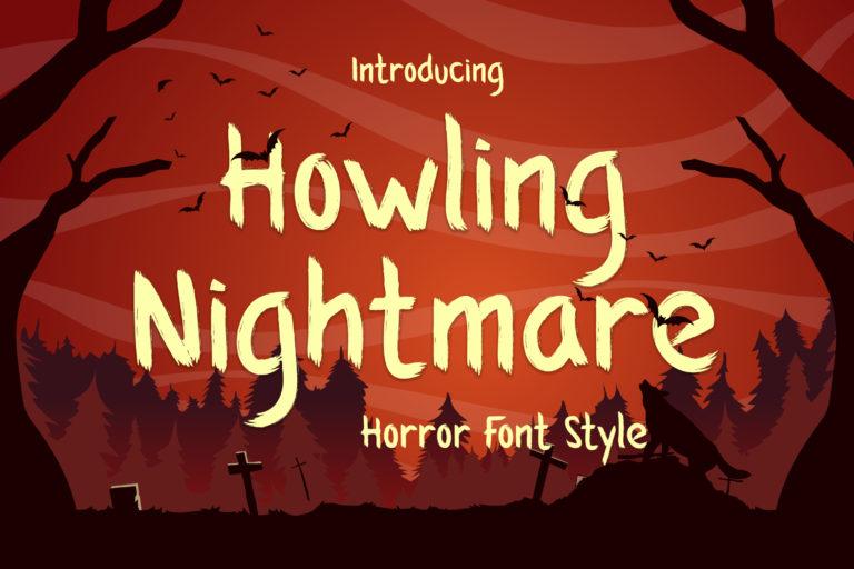 Howling Nightmare - Horror Font