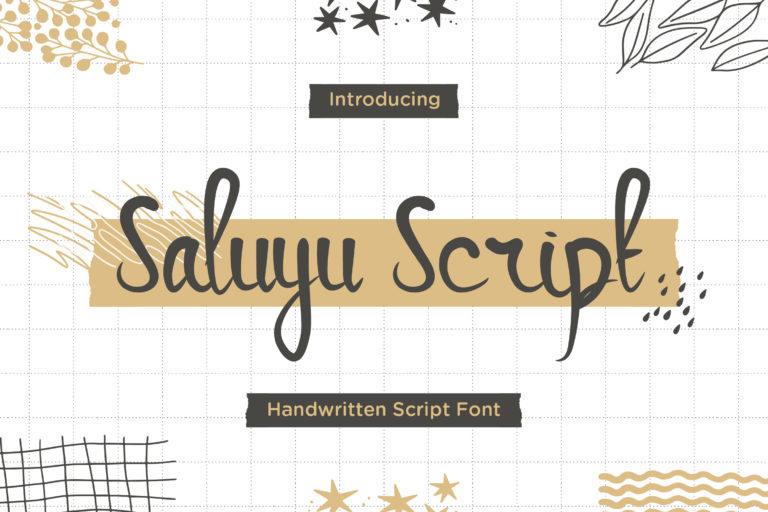 Saluyu Script -Handwritten Font