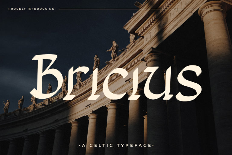 Preview image of Bricius – Display Celtic Typeface