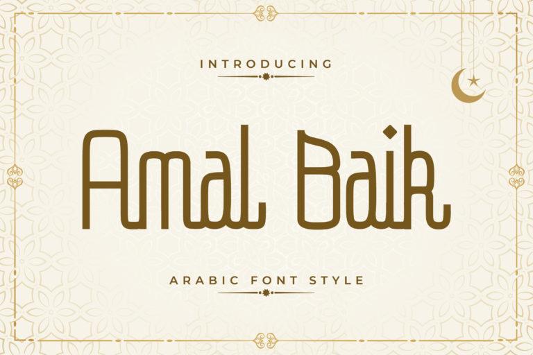 Amal Baik - Arabic Font Style