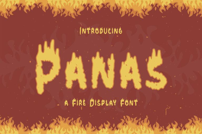 Panas - Fire Display Font