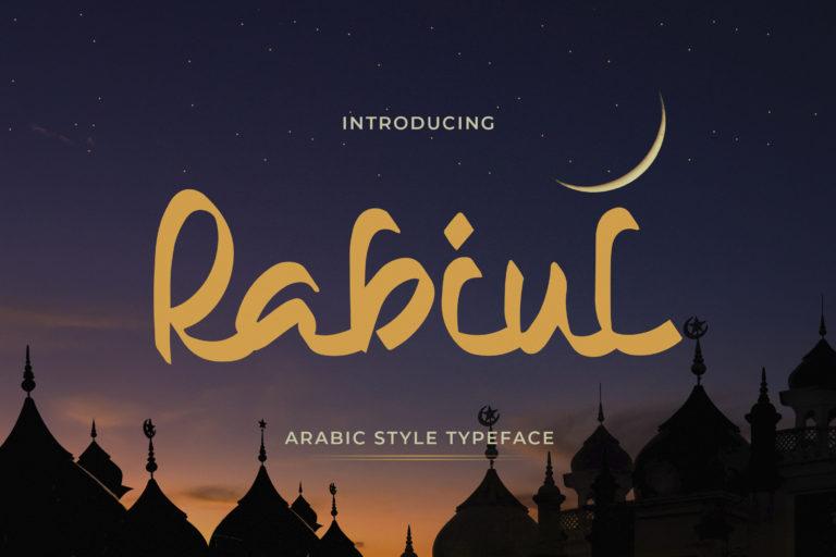 Rabiul - Arabic Style Typeface