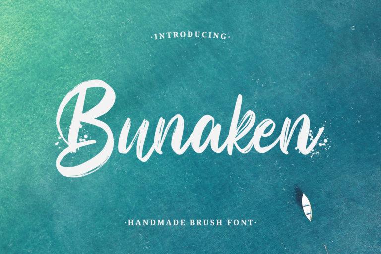 Bunaken - Handmade Brush Font