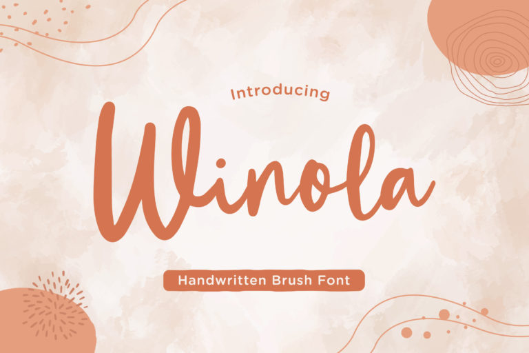 Winola - Handwritten Brush Font
