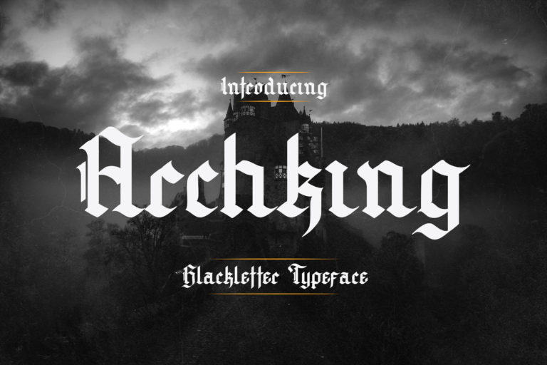 Preview image of Archking – Blackletter Typeface
