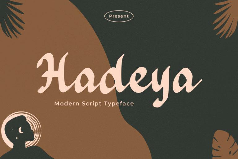 Hadeya - Modern Script Typeface