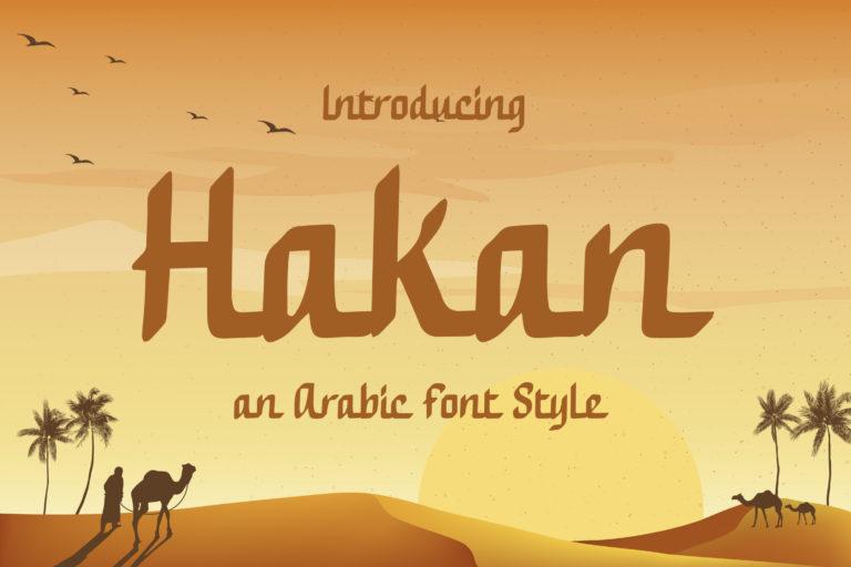 Hakan - Modern Arabic Font Style