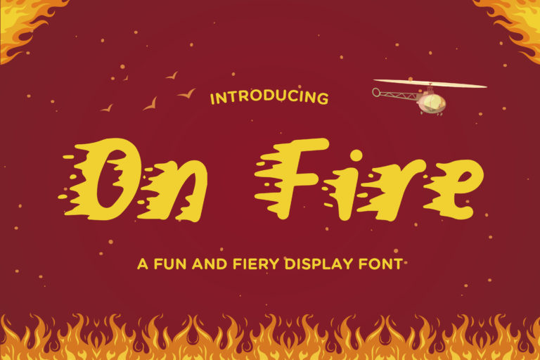 On Fire - A Fun and Fiery Display Font