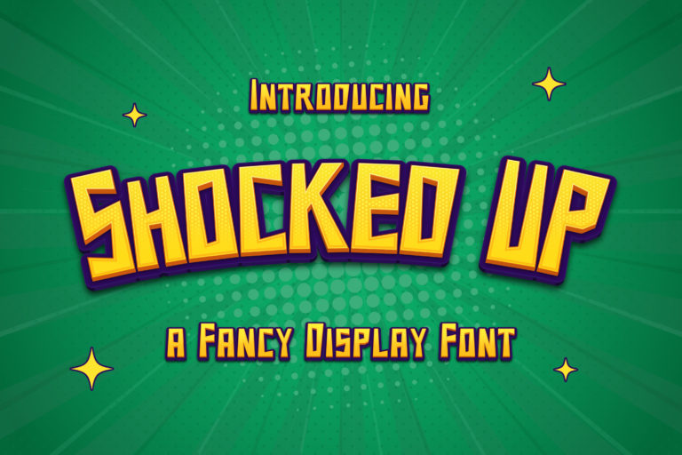 Shocked Up - A Fancy Display Font