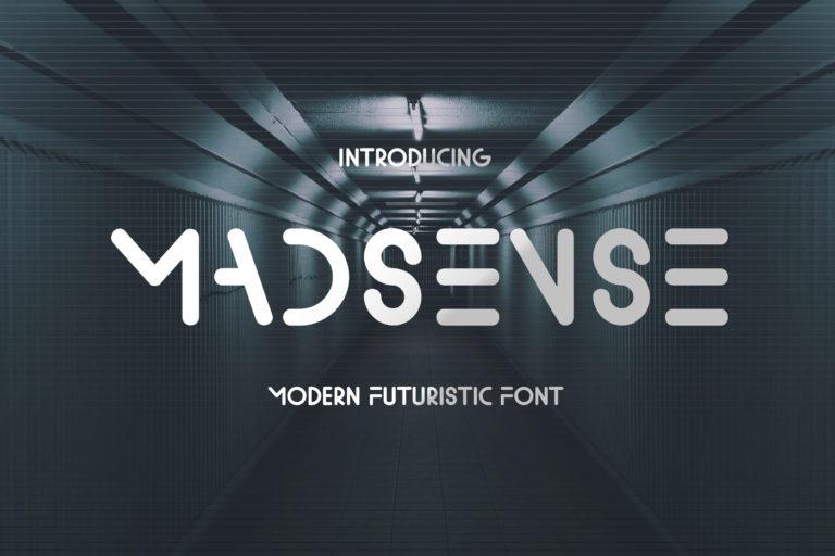 Madsense - Modern Futuristic Font