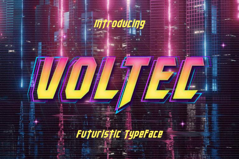 Voltec - Futuristic Typeface