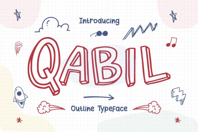 Qabil - Outline Typeface
