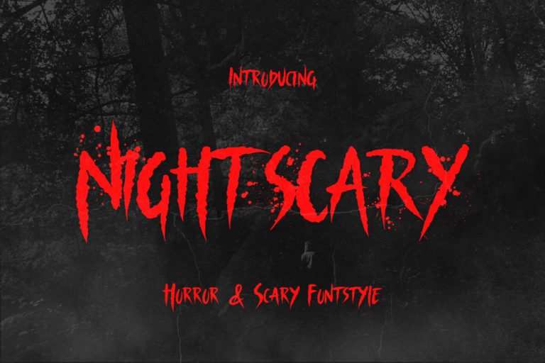 Nightscary - Horror and Scary Font