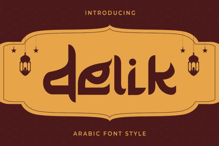 Delik - Arabic Font