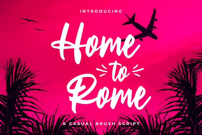Home to Rome - Casual Brush Script