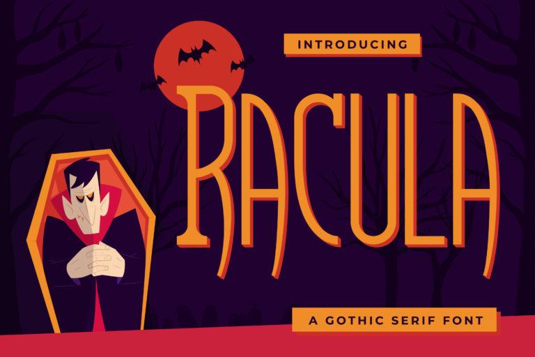 Racula - A Gothic Serif Font