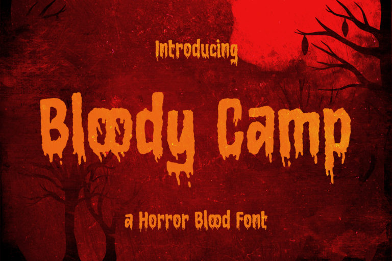 Bloody Camp - a Horror Blood Font
