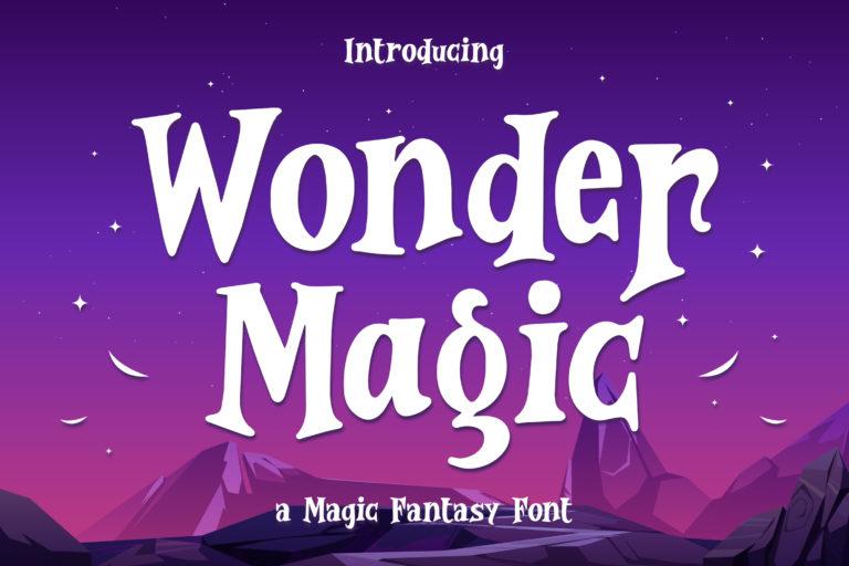 Wonder Magic - a Magic Fantasy Font