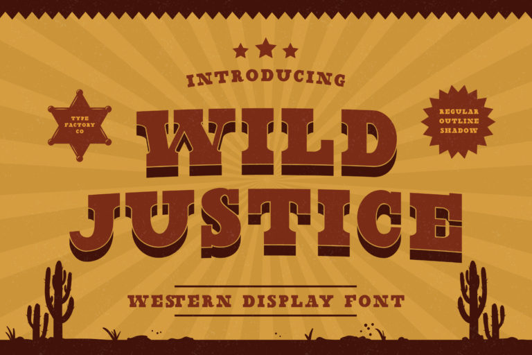 Wild Justice - Western Display Font