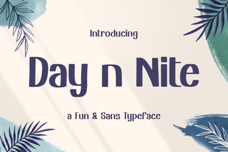 Day n Nite - Fun Sans Typeface
