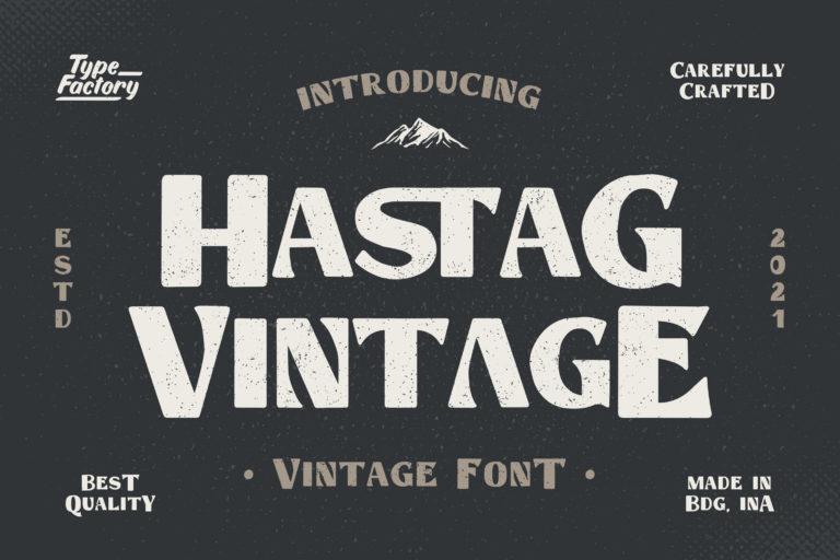 Hastag - Vintage Display Font