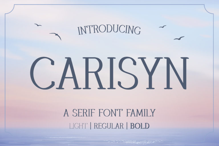 Carisyn - Serif Font Family