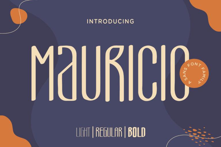 Mauricio - A Sans Font Family