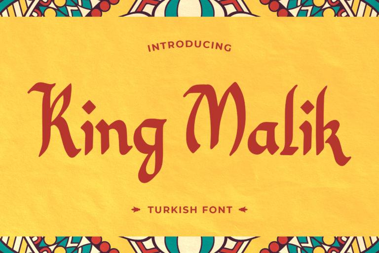 King Malik - Turkish Font