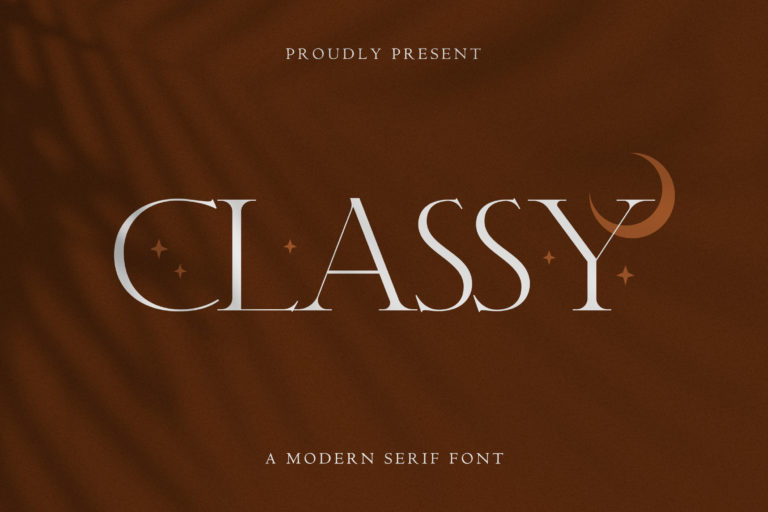 Classy - Modern Serif Font