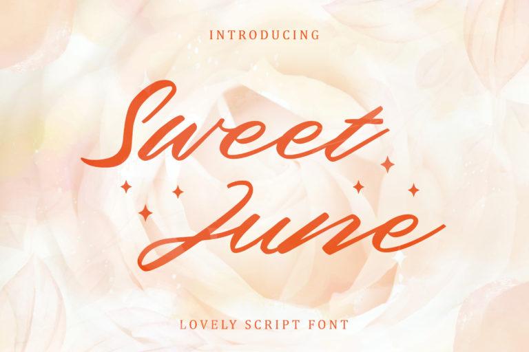 Sweet June - Lovely Script Font