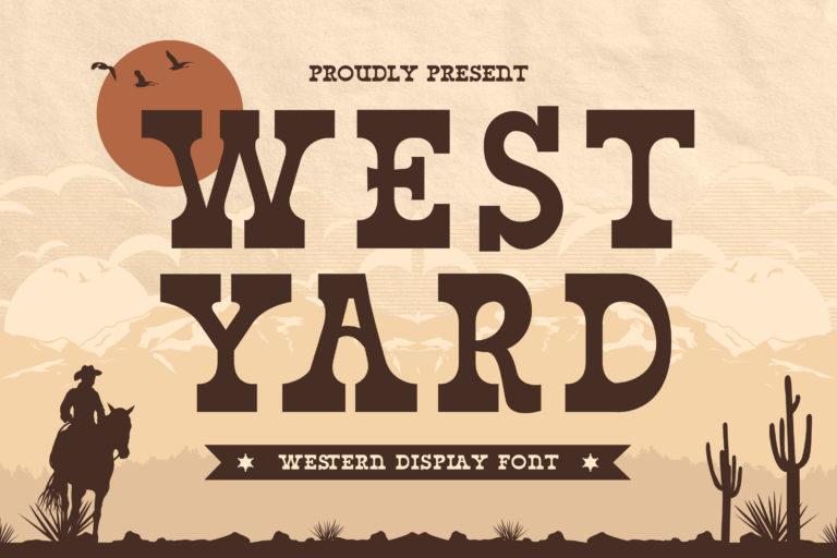 West Yard - Western Display Font
