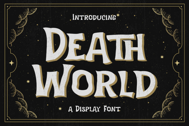 Preview image of Death World – Display Font