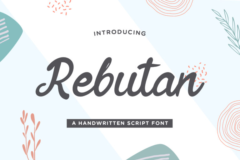 Rebutan - Handwritten Script Font