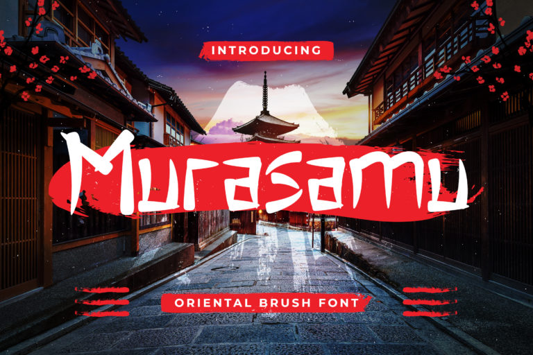 Murasamu - Oriental Brush Font