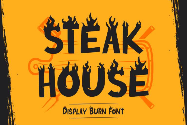 Steak House - Display Burn Font