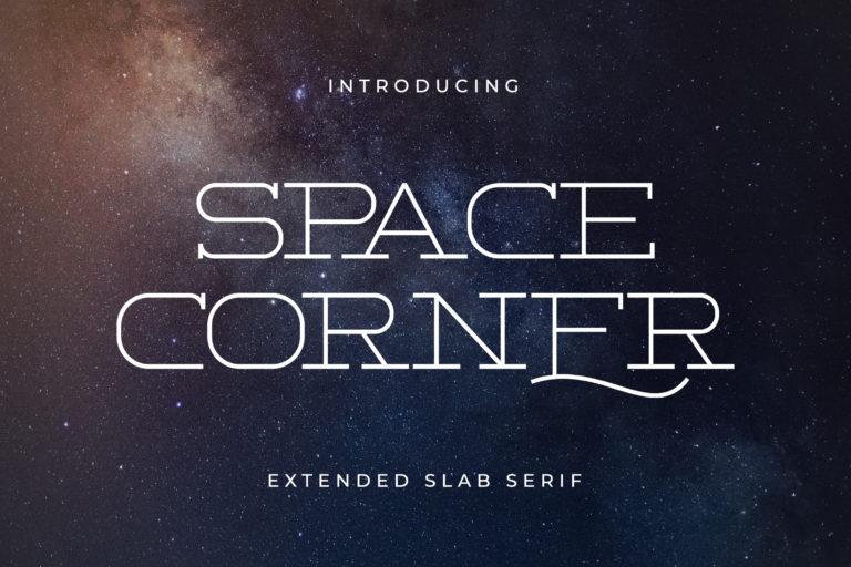 Space Corner - Extended Slab Serif