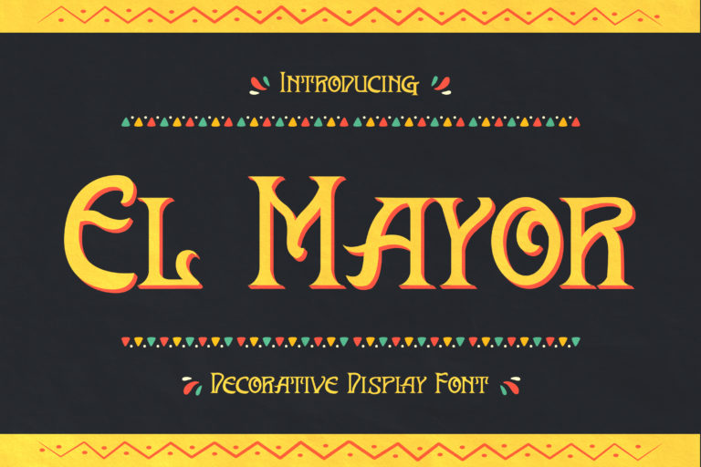 El Mayor - Display Decorative Font