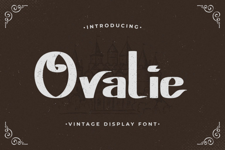 Ovalie - Vintage Display Font