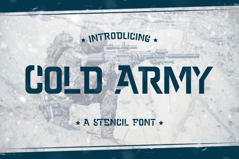Cold Army - A Stencil Font