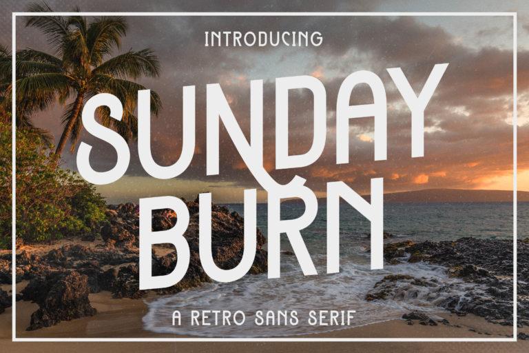 Sunday Burn - A Retro Sans Serif