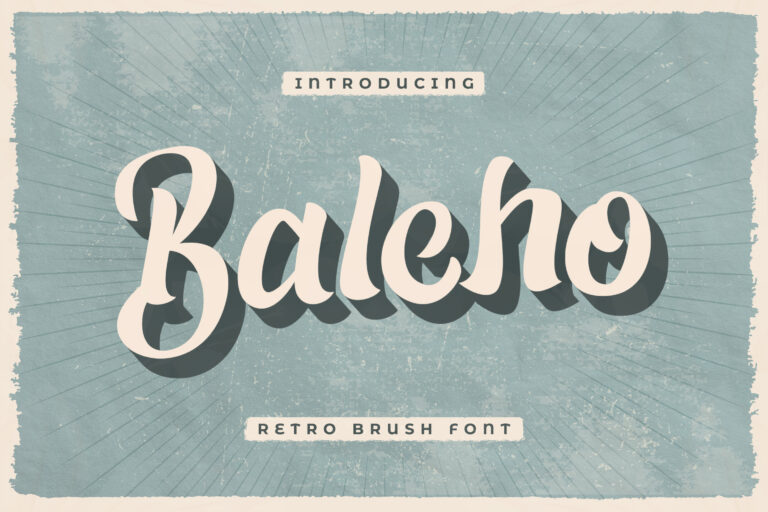 Baleho - Retro Brush Font