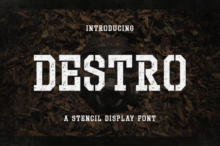 Destro - Stencil Display Font