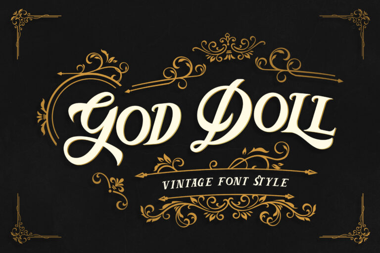 God Doll - Vintage Display Font