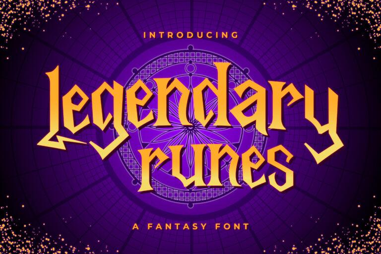 Legendary Runes - Fantasy Font