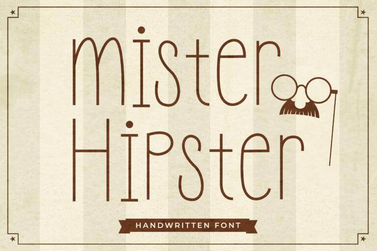 Mister Hipster - Fun Handwritten Font