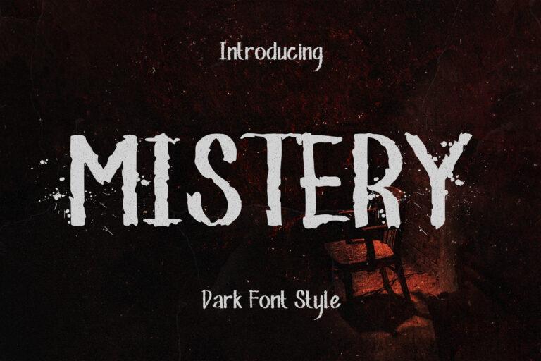 Mistery - Dark Font